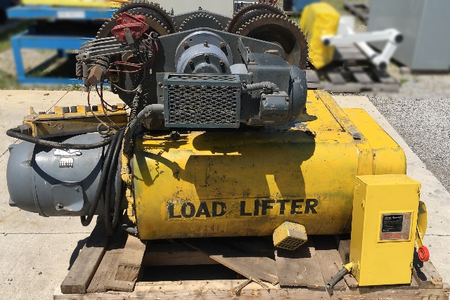Dresser Load Lifter 10 Ton Wire Rope Hoist With Power Trolley 460 V