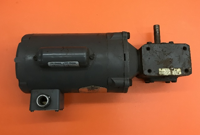 Boston Gear, Cat No. ER-B, HP 1/3, Volts 115-230, Amps 6.6/3.3, RPM 1725