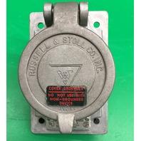 russellstoll SKR4G receptacle  20A-250V /600 VAC