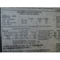 Square D Safety Switch H365