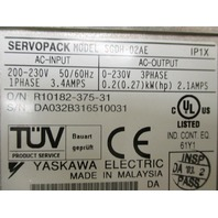 Yaskawa ServoPack SGDH-02AE with I/F Unit NS100