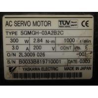 Yaskawa Servo Motor SGMGH-03A2B2C