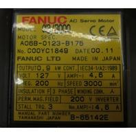 Fanuc Servo Motor a3/3000  Spec.# A06B-0123-B175