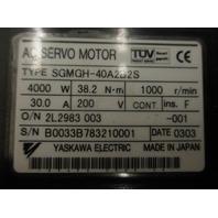 Yaskawa Servo Motor SGMGH-40A2B2S