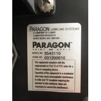 Paragon Labeling Systems Labeler 3543110 w/ Zebra Thermal Label Printer 110PAX4