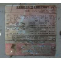 Square D Dry Transformer 1.5S1F- 1.5 KVA  480/240 - 240/120 V