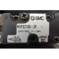 SMC 12 Slot Solenoid Valve Base with Solenoid Valves NVFS2100-3F