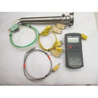 Exergen IRt/c 100 A-Hie, with Manual & Exteck 421501 Type K Thermometer