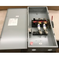 GE 200 AMP 240 V. 1 Ph fusible Indoor Safty Switch, Model 8