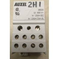 Auxel 38020 Power Distribution Block, 1 Pole