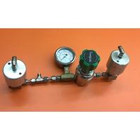 Swagelok valve KPP1A1D3OPP4000  and 3000 psi gauge & 2 Nupro Bellows