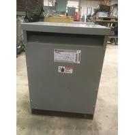 GE 9T23B2672 Transformer 37.5 KVA 480-240/120V