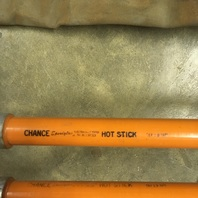 Set of 2 CHANCE hot stick poles, For Universal Heads, w/soft bag