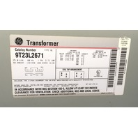 GE  Transformer, 25 KVA, Primary 506-217 V, Secondary 240-120 V,  1 Phase, 9T23L2671
