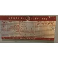 GE Transformer 9T23B3864,  50 KVA,  480-208Y/120V, Class AA