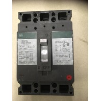 GE Industrial Circuit Breaker ,100 Amp,480 VAC, 250 DVC, 3 Pole, Cat TED134100