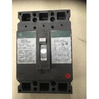 GE Industrial Circuit Breaker ,100 Amp,480 VAC, 250 DVC, 3 Pole, Cat TED134100