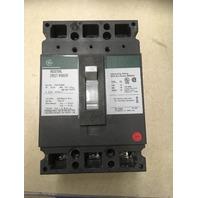 GE Industrial Circuit Breaker, 45 Amp, 480 VAC, 250 VDC, 3 pole, CAt No. TED134045