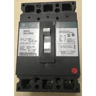 GE Industrial Circuit Breaker, 35 Amp, 480 VAC, 250 VDC, 3 pole Cat. No. TED134035