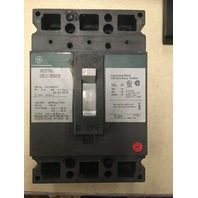 GE Industrial Circuit Breaker, 30 Amp, 480 VAC,250 VDC 3 pole Cat No. TED134030V