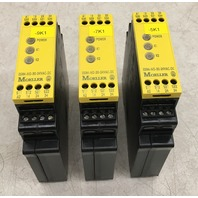 Lot of 3/MOELLER Safety Relay-ESR4-NO-30-24VAC-DC
