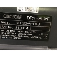 Orion Dry Pump KHF20-V-01B, W/ 3 Phase induction Motor T3A802-4B50RSP