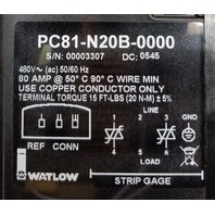 Watlow PC81-N20B-0000 SCR Power Controller 80 Amp