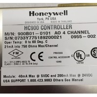 HONEYWELL HC900 Controller, M/N: 900B01-0101,  A0 4 Channel