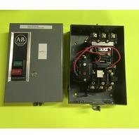 Allen-Bradley 509-B0D Motor Starter, 27 Amp Max, 600 VAC Max with Enclosure Size 1 Series B