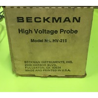 BECKMAN High Voltage Probe HV-211/ With Manual in Box