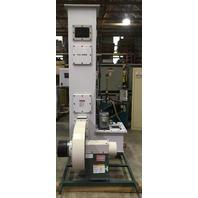 Mapco-Midwest Air Products Co.- PVC Wet Srubber & PVC Exsaust Fan/With 2 Motors.