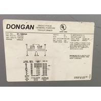 Dogan/37.5 KVA , 1 Ph ,480-120/240 V, General Purpose Transformer Cat. 61-1680SH