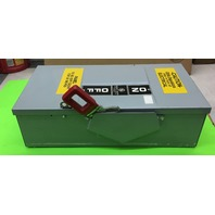 GE heavy duty NP 266209-A safety switch 60 amp 240 V. AC Max HP 15