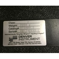 Calibration Weight, Denver Instrument, 2kg, Cylindrical, Class 2, / Cat No. 872000.2
