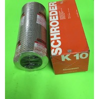 SCHROEDER K10 Filter Element,Cellulose,10 Microns