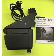 SIMPLEX 100 Time Clock & Date stamp/Adapter/Key/1-Sealed ribbon/time card holder