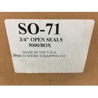 "3/4"" Open Seals for Steal Strapping Approximately 4000 pieces"