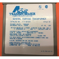 Acme Transformer T-1-81051 General Purpose Transformer