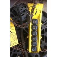 CM LODESTAR, 2 Ton electric chain hoist with power trolley