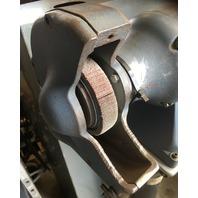 Baldor Pedastal Grinder,  W/Abrasive Flap Wheels, 3/4 HP, RPM 3600