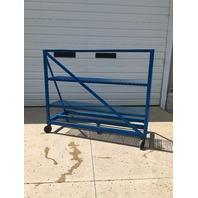 """Portable Blue Steel Racks,( 30"""" Long x 74 1/4"""" Wide x 62 1/4"""" High) On HD rubber wheels"""