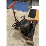 ARO- Manual High Pressure Lubrication Oil Grease Pump, on cart W/ wheels
