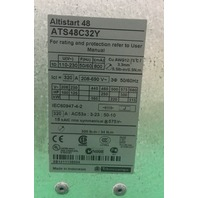 SCHNEIDER 250 HP ALTISTART 48 AC VFD VARIABLE FREQUENCY DRIVE ATS48C32Y