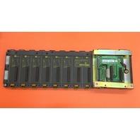 OMRON C200H-BC081-V1 Base Unit (7 CH),  W/ OMRON C200HW-AB001