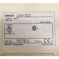 OMRON/ LOt of 3/ C200H-1D212 Input Unit
