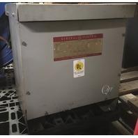 General Electric Transformer 9T21 A 11/ 15 KVA/ 480-240 delta delta/ 3 Phase/ 60 Hz