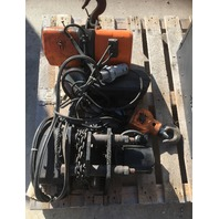 Jet Electric Chain Hoist  2 Ton 2RS-3-10/10 ft lift W/ 2 Ton CM Railstar Trolley