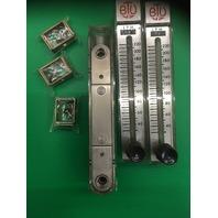 Dwyer Flow meters (lot of 3) 40-220, MAX- Temp 130°F Press 70 PSI, Cat. 57-193136-00