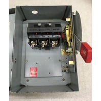 GE Heavy Duty Safety Switch, 30 Amp 600 Vac/250Vdc, Max HP 30, Cat No. THN3361J