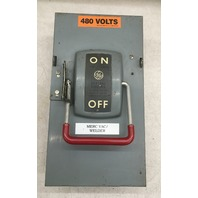 General Electric Enclosed Safety Switch, 60 AMP, 3 Pole, 600 VAC/ Cat No. TH3362 Mod 1